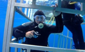 diver-in-cage